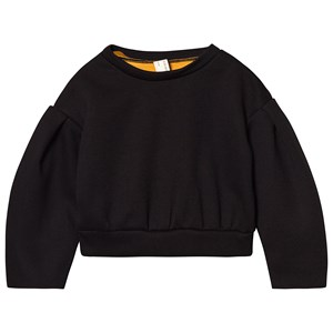 Little Creative Factory Sort Neoprene Jersey Sweatshirt med Gyldenbrunt For 10 years