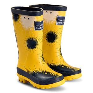 Muddy Puddles Yellow Urchin Print Puddlestomper Gummistøvler 24 (UK 7)