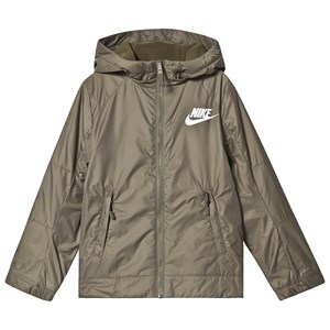 NIKE Foret Fleece Jakke Khaki med Hætte XL (13-15 years)