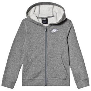 NIKE Logo Fleece Hættetrøje Grå M (10-12 years)