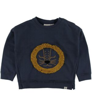 Papfar Sweatshirt - Blue Nights m. Løve