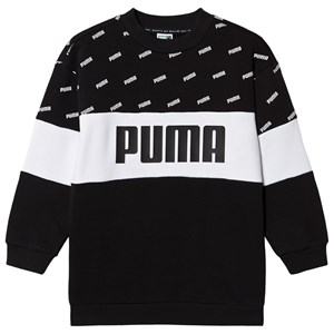 Puma Klassisk Logo Crew Sweatshirt Sort 7-8 years