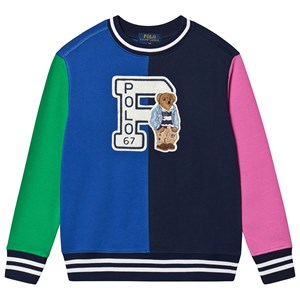 Ralph Lauren Color Block Sweatshirt med Bear Applique 4 years