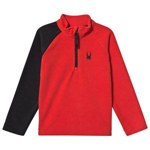 Spyder 1/4 Zip Fleece Top Red Speed 7 years