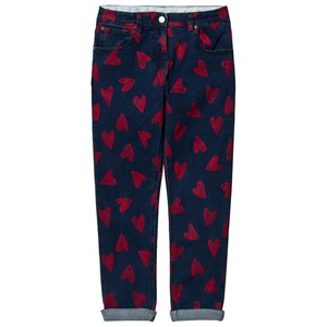 Stella McCartney Kids Blue and Red Hearts Jeans 12 years