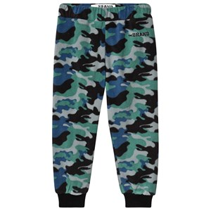 The BRAND Fleece Joggingbukser Blue Camo 92/98 cm