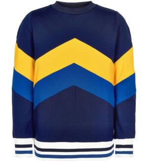 The New Sweatshirt - Owen - Navy/Gul/Blå