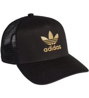 adidas Originals Kasket - Trucker - Sort m. Guld Logo