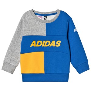 adidas Performance Colorblock Sweatshirt Blå/Grå 4-5 years (110 cm)