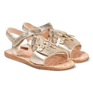 Easy Peasy Gold Metallic Frill Like Læder Sandaler 27 (UK 9)