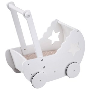 Kids Concept Star Dukkevogn Hvid Doll Stroller Star w. Bed Set