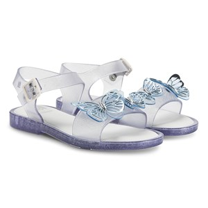 Mini Melissa Mar Butterfly Sandaler Clear Glitter 32 (UK 13)