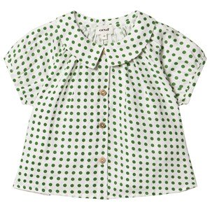 Oeuf Bluse Grøn Dots 2 Years