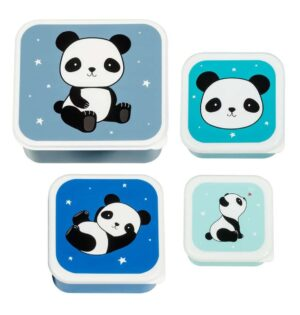 A Little Lovely Company madkasse og snackboks, panda