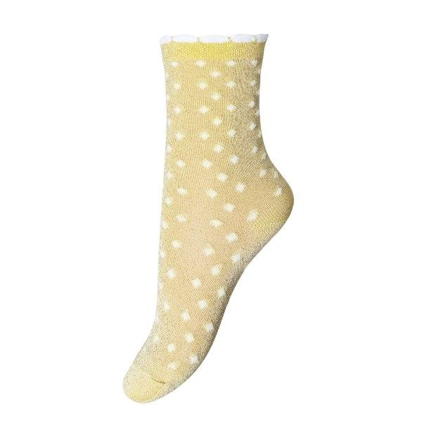 Ankle Lucy Strømper - Yellow Dot Glimmer