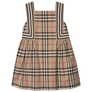 Burberry Vintage Check Flared Kjole Archive Beige 12 years