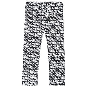 DKNY Allover Logo Leggings Sort 14 years