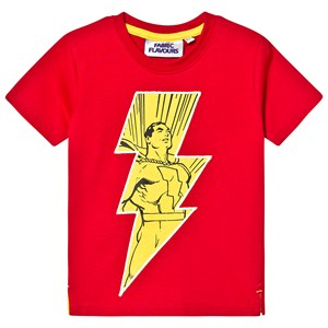 Fabric Flavours Shazam! I'm a Superhero T-Shirt Red 3-4 years
