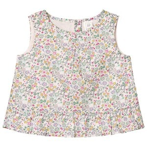 GAP Mauve Floral Sleeveless Top 4 år