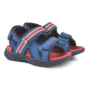 Geox Navy and Red Gleeful Sandals 37 (UK 4)