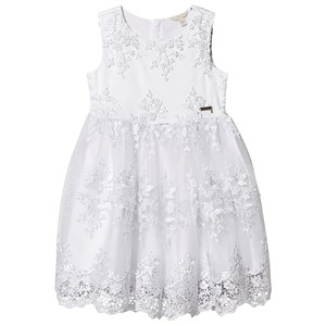 Guess Lace Applique Tulle Kjole Hvid 8 years