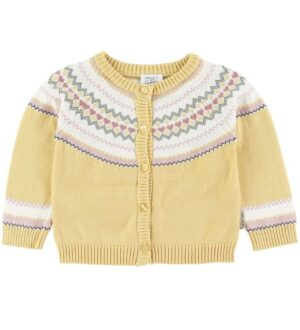 Hust and Claire Cardigan - Charme - Gul m. Mønster