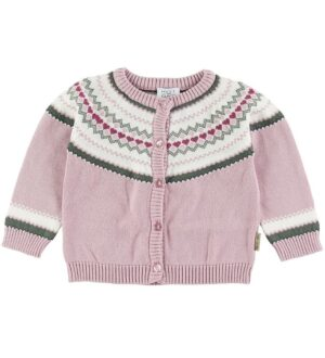 Hust and Claire Cardigan - Charme - Rosa m. Mønster