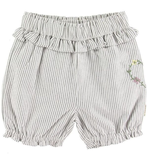 Hust and Claire Shorts - Hortensia - Hvid/Gråstribet