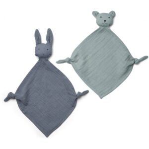 Liewood 2 stk. Mini Nusseklud Rabbit - Blue Mix