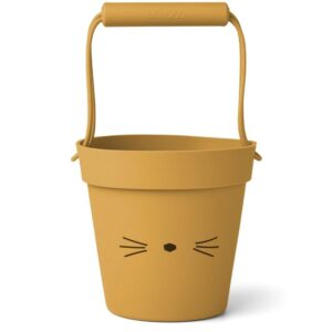 Liewood spand i silicone - Cat Yellow Mellow
