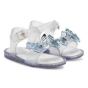 Mini Melissa Mini Mar Butterfly Sandaler Clear Glitter 21 (UK 5)