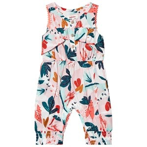 Catimini Pink Blomstret Fill Jumpsuit med Knapper Foran 3 years
