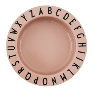 Design Letters Eat & Learn Tritan™ Dyb Tallerken Pink One Size
