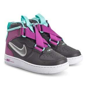 NIKE Force 1 Highness Sneakers Thunder Grey and Metallic Silver 36.5 (UK 4)