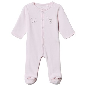 Absorba Kat Print Velour Footed Baby Body Pink 6 months
