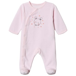 Absorba Mus Print Velour Footed Baby Body Pink 9 months