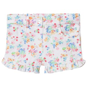 Dr Kid White Floral Frill Shorts 18 months