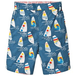 Frugi Reuben Shorts Steely Blue/Ride The Waves 2-3 years