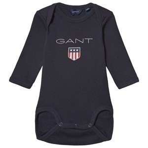 GANT Large Shield Long Sleeve Body Baby Body Navy 74cm (9 months)