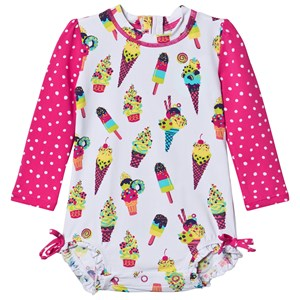 Hatley Cool Treats Ice Cream Rashguard Badedragt Hvid 9-12 months