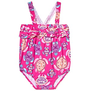Hatley Pretty Sea Turtles Badedragt Pink 12-18 months