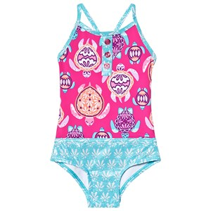 Hatley Sea Turtles Badedragt Pink 2 years