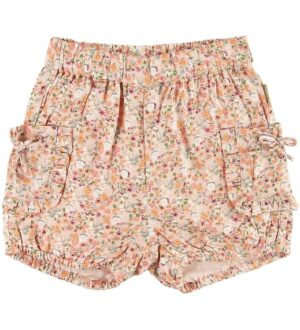 Hust and Claire Shorts - Hanne - Koral m. Blomster