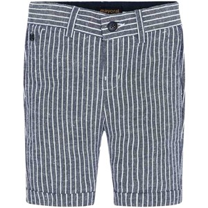 Mayoral Stribe Linned Shorts Nvy/Hvid 2 years