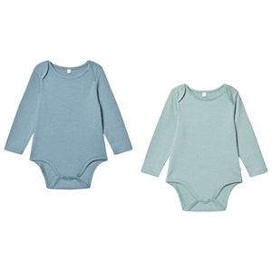 Mori 2-Pack Rib Baby Body Blue 12-18 months