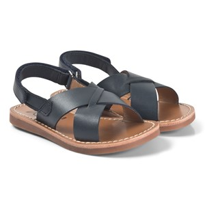 Pom Dapi Plage Stitch Cross Sandaler Navy 37 (UK 4)