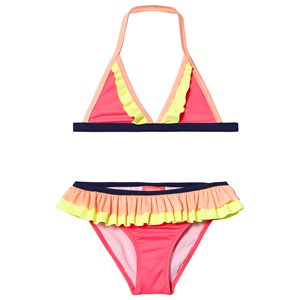 Sunuva Triangle Frill Bikini Hot Pink 13-14 years