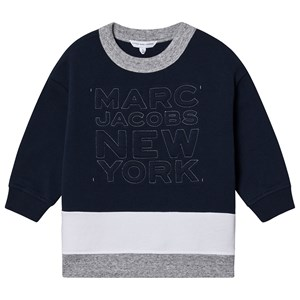The Marc Jacobs Multi Color Logo T-Shirt Kjole Navy 3 years