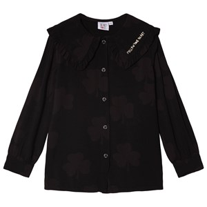 Beau Loves Follow Your Hear Wide Collar Blouse Black 2-3 Years