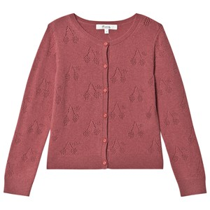 Bonpoint Cherry Cashmere Wool Cardigan Pink 4 years